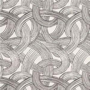 178711 FREEFORM Black Schumacher Fabric