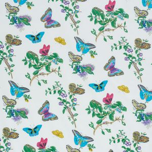 178721 BAUDIN BUTTERFLY CHINTZ Turquoise Schumacher Fabric