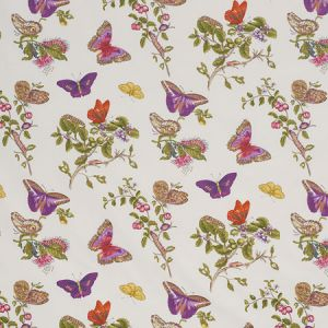 178722 BAUDIN BUTTERFLY CHINTZ Purple Schumacher Fabric