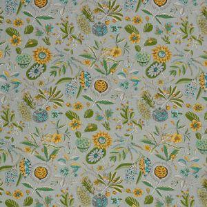 178771 ROCA REDONDA Grey Ochre Schumacher Fabric