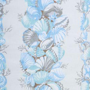 178780 BEDOLINA CHINTZ Blue Grey Schumacher Fabric