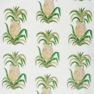 178800 PINEAPPLES CHINTZ Ivory Schumacher Fabric