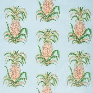 178801 PINEAPPLES CHINTZ Sky Schumacher Fabric