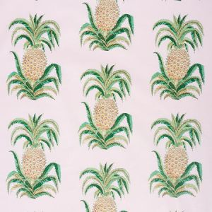 178802 PINEAPPLES CHINTZ Blush Schumacher Fabric