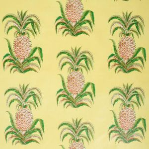 178803 PINEAPPLES CHINTZ Yellow Schumacher Fabric