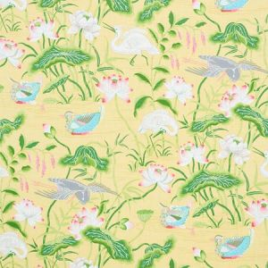 179040 LOTUS GARDEN Yellow Schumacher Fabric