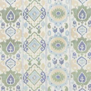 179051 ELIZIA IKAT Green Blue Schumacher Fabric