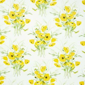 179060 JONI CHINTZ Yellow Schumacher Fabric