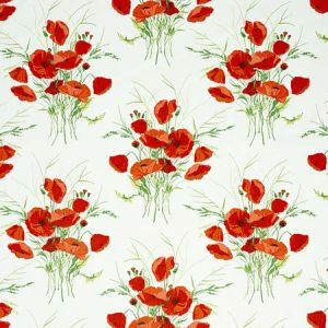 179061 JONI CHINTZ Red Schumacher Fabric