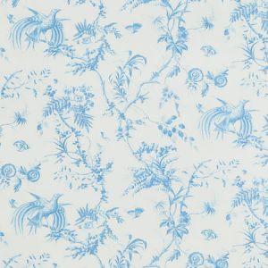179570 TOILE DE LA PRAIRIE Blue Schumacher Fabric
