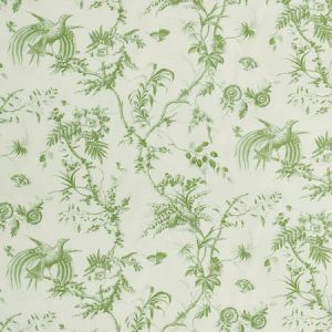 179571 TOILE DE LA PRAIRIE Green Schumacher Fabric