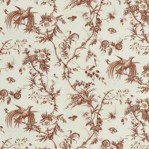 179572 TOILE DE LA PRAIRIE Brown Schumacher Fabric