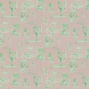 UPTOWN TOILE Cabana Kelly Vervain Fabric