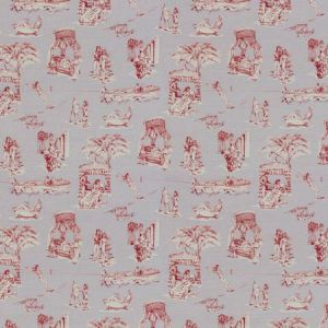 UPTOWN TOILE Lavander Rouge Vervain Fabric