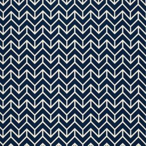 2644031 CHEVRON PRINT Navy Schumacher Fabric