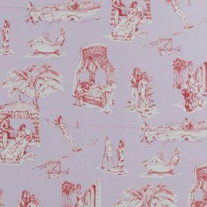 UPTOWN TOILE Lavande Rouge 03 Vervain Wallpaper