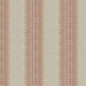 PRINTED STRIPE Burnt Red Stroheim Fabric