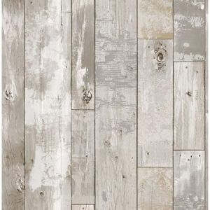 2922-24054 Deena Weathered Wood Light Grey Brewster Wallpaper