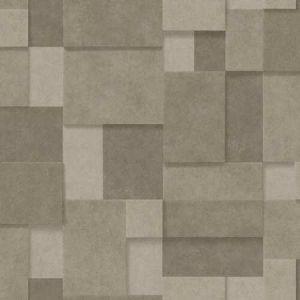 2922-25352 Duchamp Metallic Squares Gold Brewster Wallpaper
