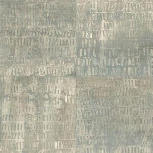 2922-25380 Conundrum Faux Metal Sage Brewster Wallpaper