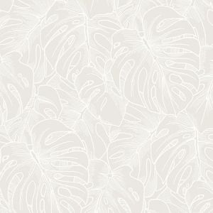 2964-87340 Balboa Botanical White Brewster Wallpaper