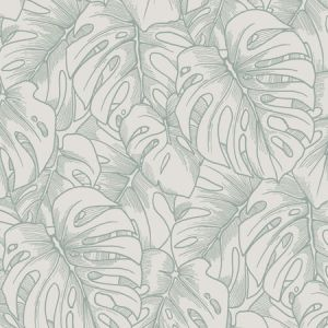 2964-87343 Balboa Botanical Olive Brewster Wallpaper