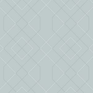 2964-87345 Ballard Geometric Light Blue Brewster Wallpaper