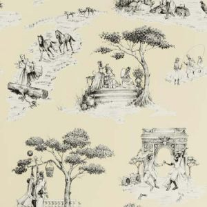 HARLEM TOILE HSC Vanilla 05 S. Harris Wallpaper
