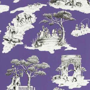 HARLEM TOILE HSC Purple 07 S. Harris Wallpaper