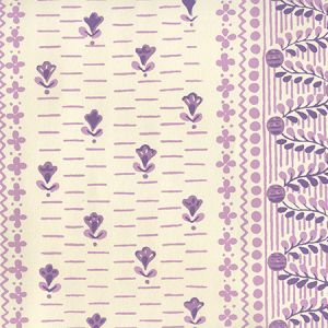 306297OWP LINKS II Multi Purples On Off White Quadrille Wallpaper