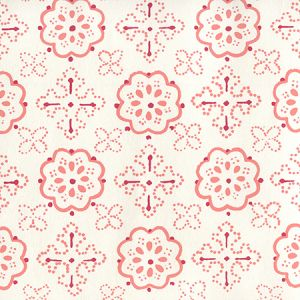 306305W CRAWFORD Multi Red Terracotta On Almost White Quadrille Wallpaper