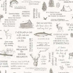 3118-01473 North Hills Camping Quotes Off-White Brewster Wallpaper