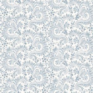 3119-01387 Sycamore Paisley Floral Blue Brewster Wallpaper