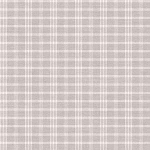 3119-02145 Tristan Prairie Gingham Light Grey Brewster Wallpaper