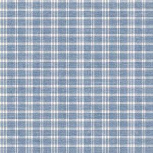 3119-02146 Tristan Prairie Gingham Navy Brewster Wallpaper