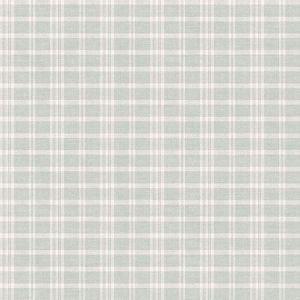 3119-02147 Tristan Prairie Gingham Teal Brewster Wallpaper