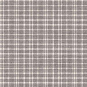 3119-02148 Tristan Prairie Gingham Grey Brewster Wallpaper