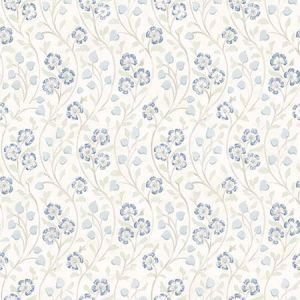 3119-13052 Patsy Floral Blue Brewster Wallpaper