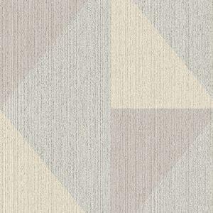 395822 Diamond Tri-Tone Geometric Light Blue Brewster Wallpaper