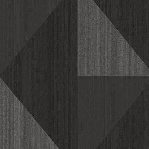 395824 Diamond Tri-Tone Geometric Silver Brewster Wallpaper