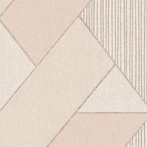395831 Art Deco Glam Geometric Peach Brewster Wallpaper