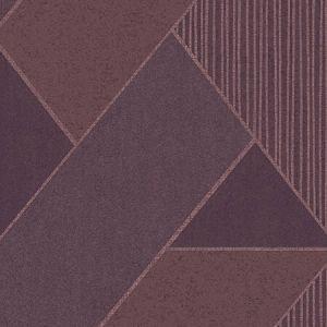 395833 Art Deco Glam Geometric Plum Brewster Wallpaper
