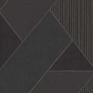 395834 Art Deco Glam Geometric Dark Blue Brewster Wallpaper