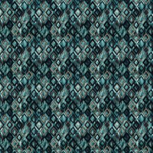 ROYALE DIAMOND Teal Stroheim Fabric