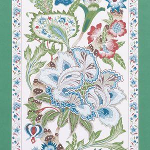 5010170 ANJOU STRIPE Emerald Schumacher Wallpaper
