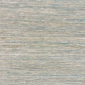 5010280 METALLIZED FLAX Peacock Schumacher Wallpaper