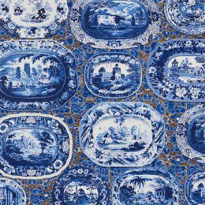 5010410 PLATES & PLATTERS Blue Schumacher Wallpaper