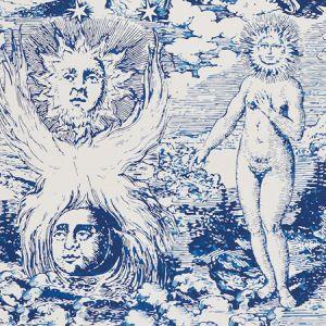 5010421 MODERN TOILE Indigo Schumacher Wallpaper
