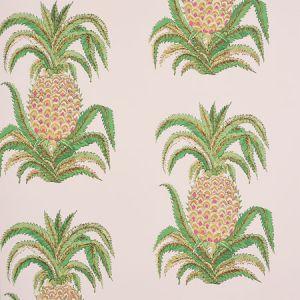 5010451 PINEAPPLES Blush Schumacher Wallpaper