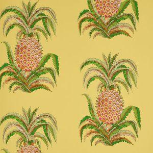5010452 PINEAPPLES Yellow Schumacher Wallpaper